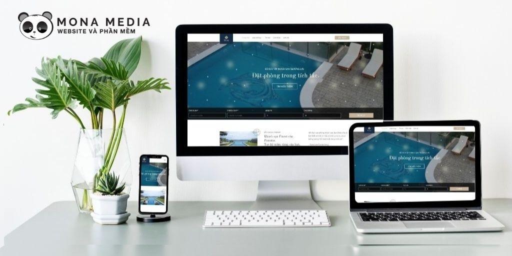 Mẫu website khách sạn Luxe
