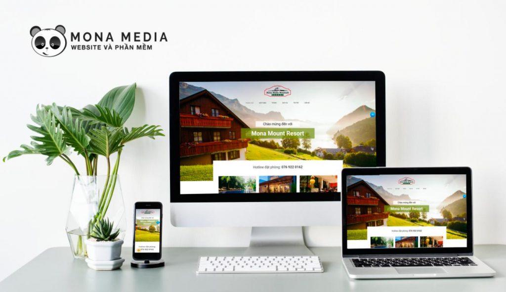 mẫu website khách sạn Mount