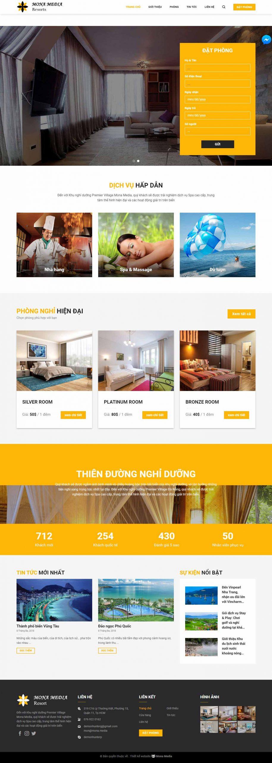 Mẫu Website Khách Sạn Howello