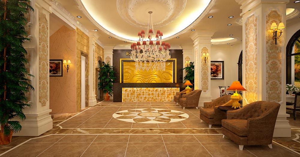 Thiết kế sảnh khách sạn tân cổ điển