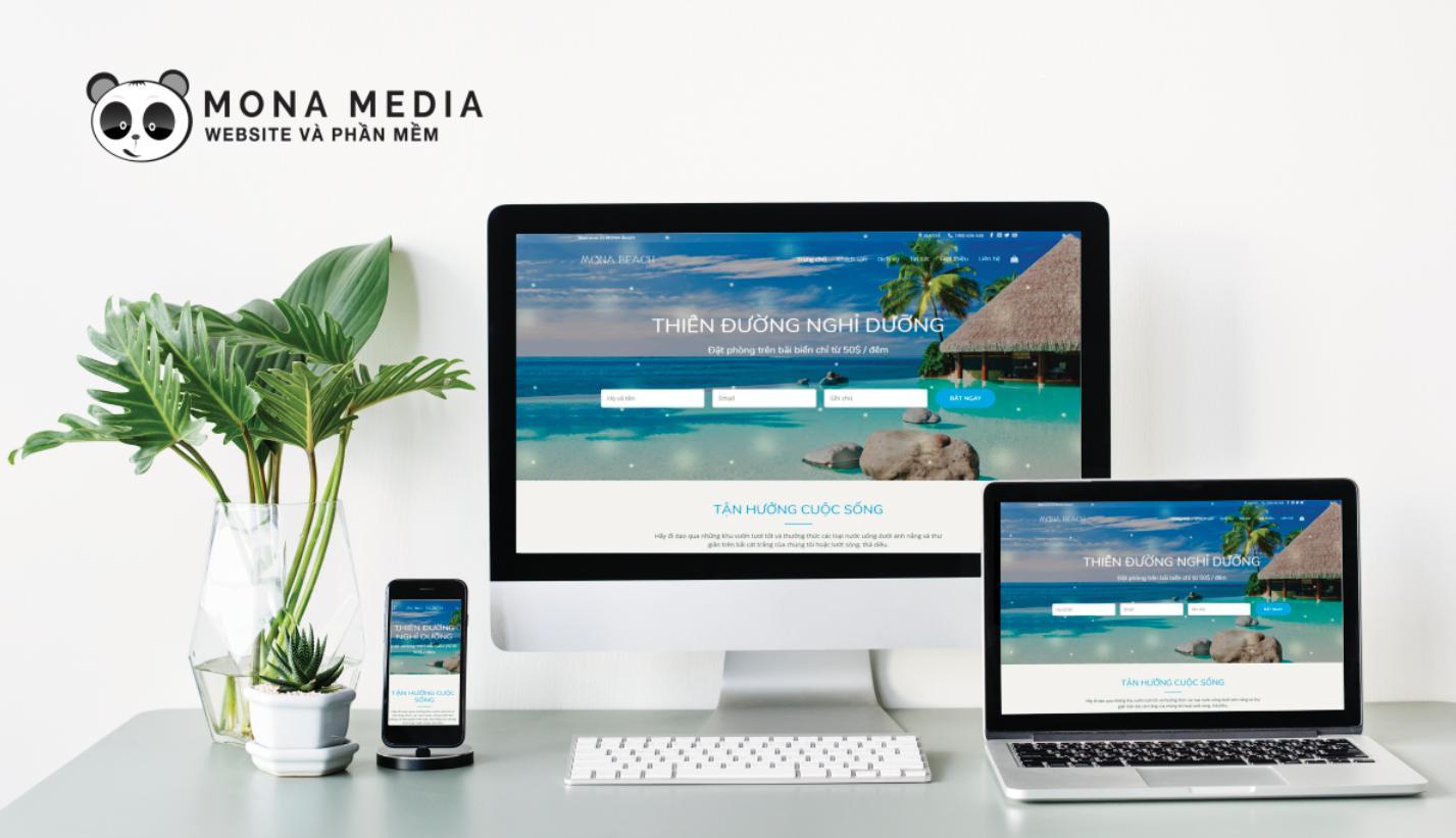 Mẫu web khách sạn Beach House