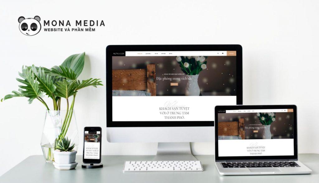 mẫu website khách sạn hotel lux