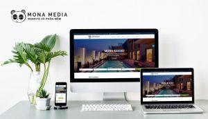 mẫu website khách sạn Lake Resort