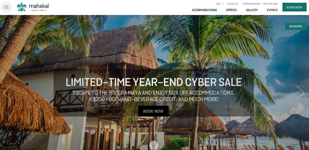 Mẫu web Mahekal Beach Resort