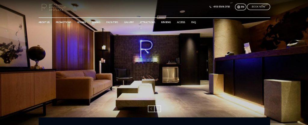 mẫu website Risveglio Akasaka