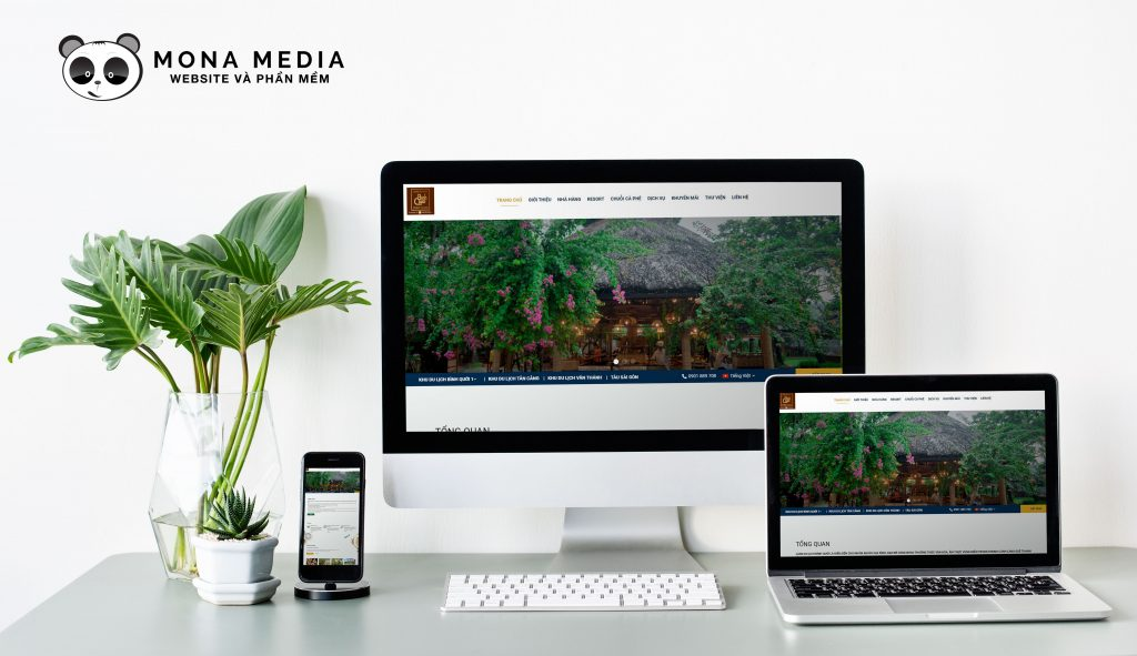 Website khu du lịch Bình Quới